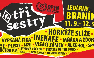 Tři sestry Open air v Braníku bude už tento víkend!