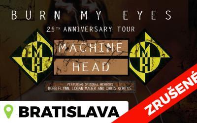 Skupina Machine Head oznamuje zrušenie turné po Európe vrátane koncertu v Bratislave
