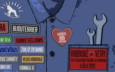 Festival Vrbovské Vetry 2020 sa uskutoční v pôvodnom termíne 4. júla