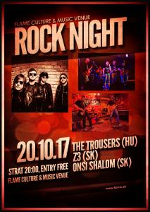 Rock night: The Trousers, Z3 & Onsi Shalom