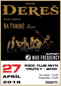 koncert Dereš + Mad Frequency